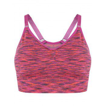 Space Dye Pullover Strappy Sports Bra - ROSE S