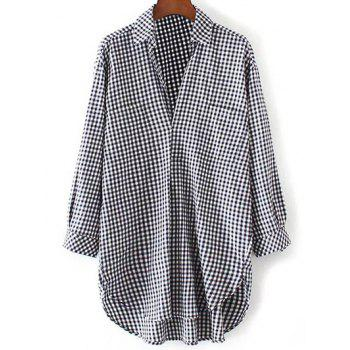 Plaid Oversized Pocket Casual Shirt