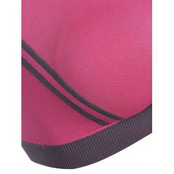 Low Impact Seamless Padded Sports Bra - ROSE RED L