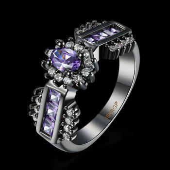 Artificial Amethyst Oval Vintage Ring - PURPLE 6