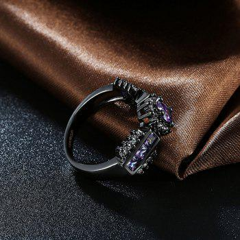 Artificial Amethyst Oval Vintage Ring - PURPLE 8