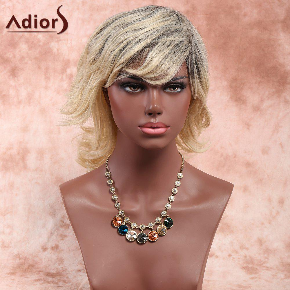 Adiors Layered Side Bang Medium Fluffy Curly Synthetic Wig