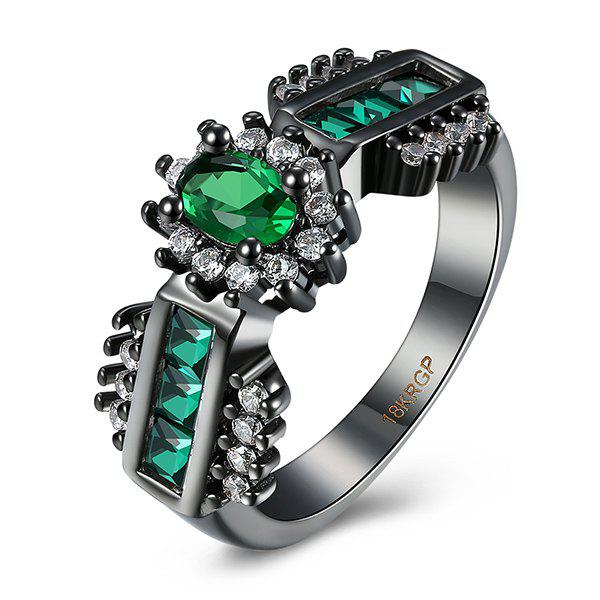 Artificial Emerald Oval Vintage Ring vintage artificial oval turquoise butterfly carved ring