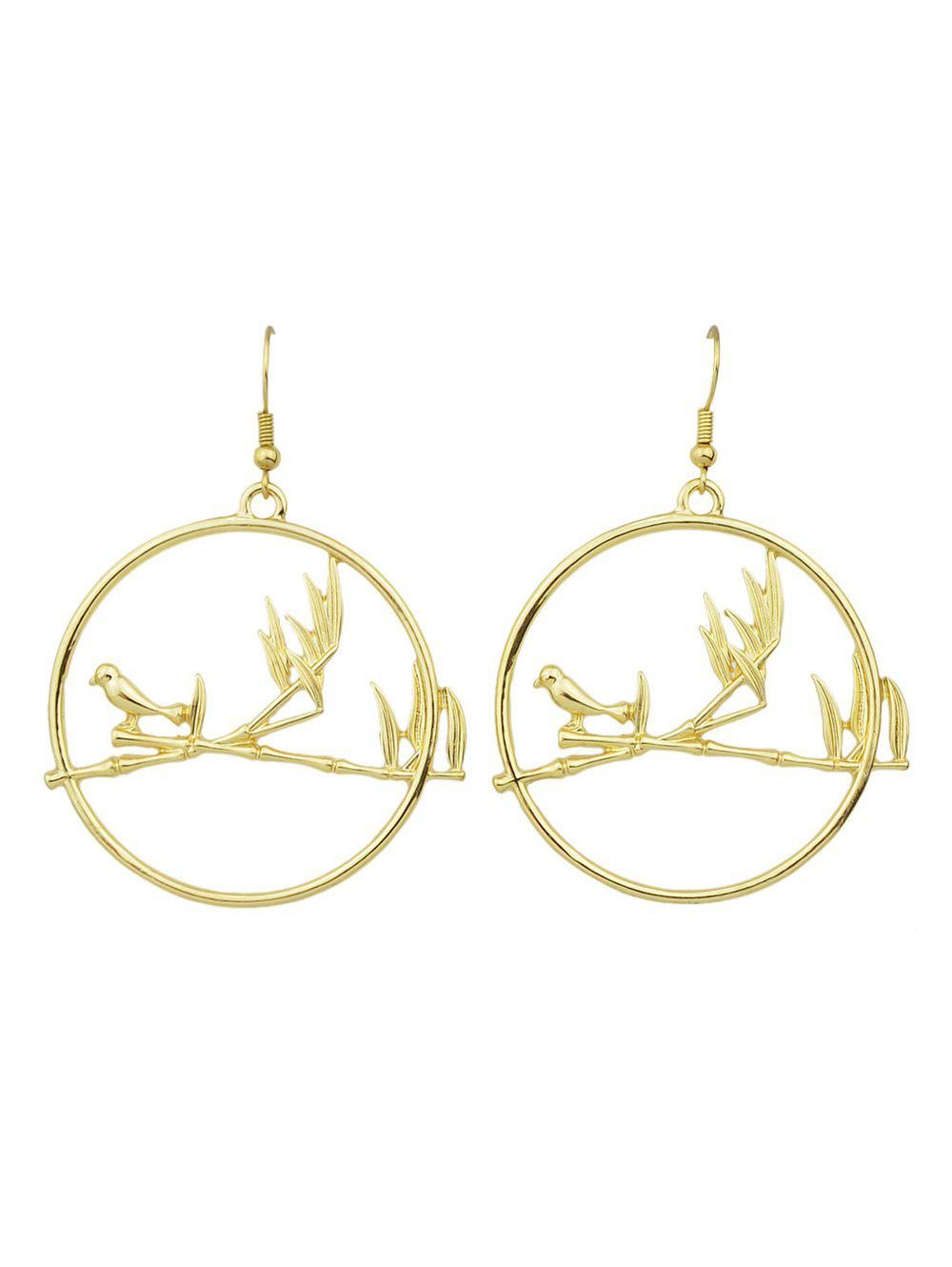 Bird Hoop Drop Earrings bow detail hoop drop earrings