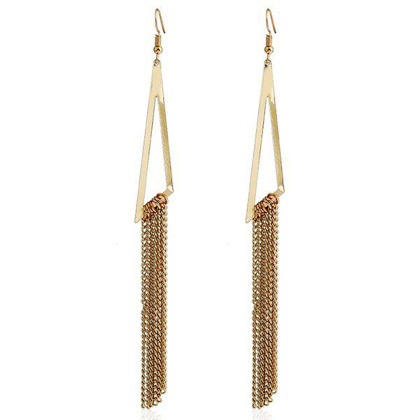 chain tassel triangle dangle earrings golden in earrings. Black Bedroom Furniture Sets. Home Design Ideas