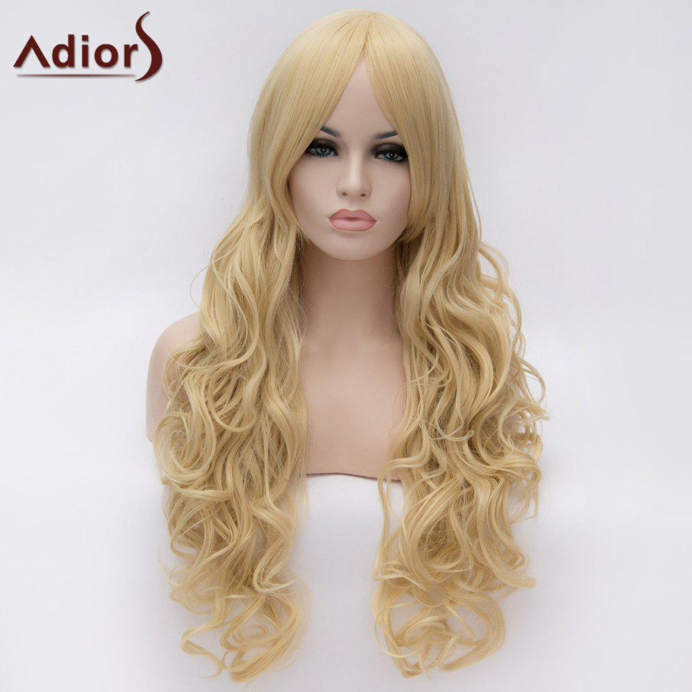 Adiors Centre Parting Long Shaggy Wavy Synthetic Wig centre speaker