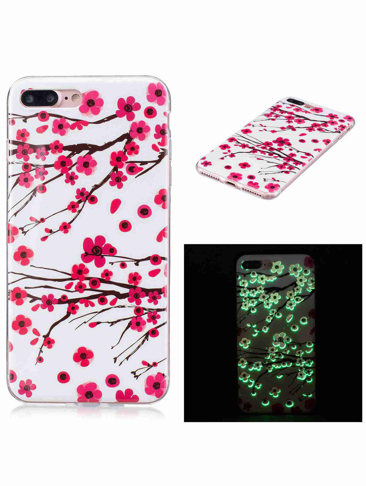 Plum Blossom Luminous Phone Back Cover For iPhone - RED FOR IPHONE 7