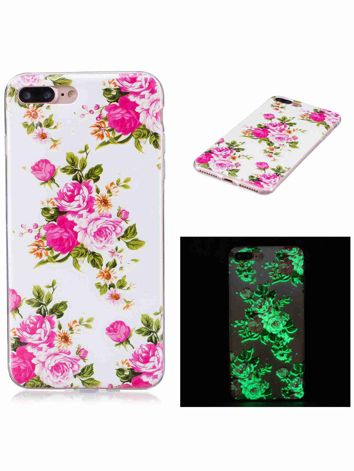 Buy Soft TPU Flower Pattern Luminous Back Case iPhone COLORMIX