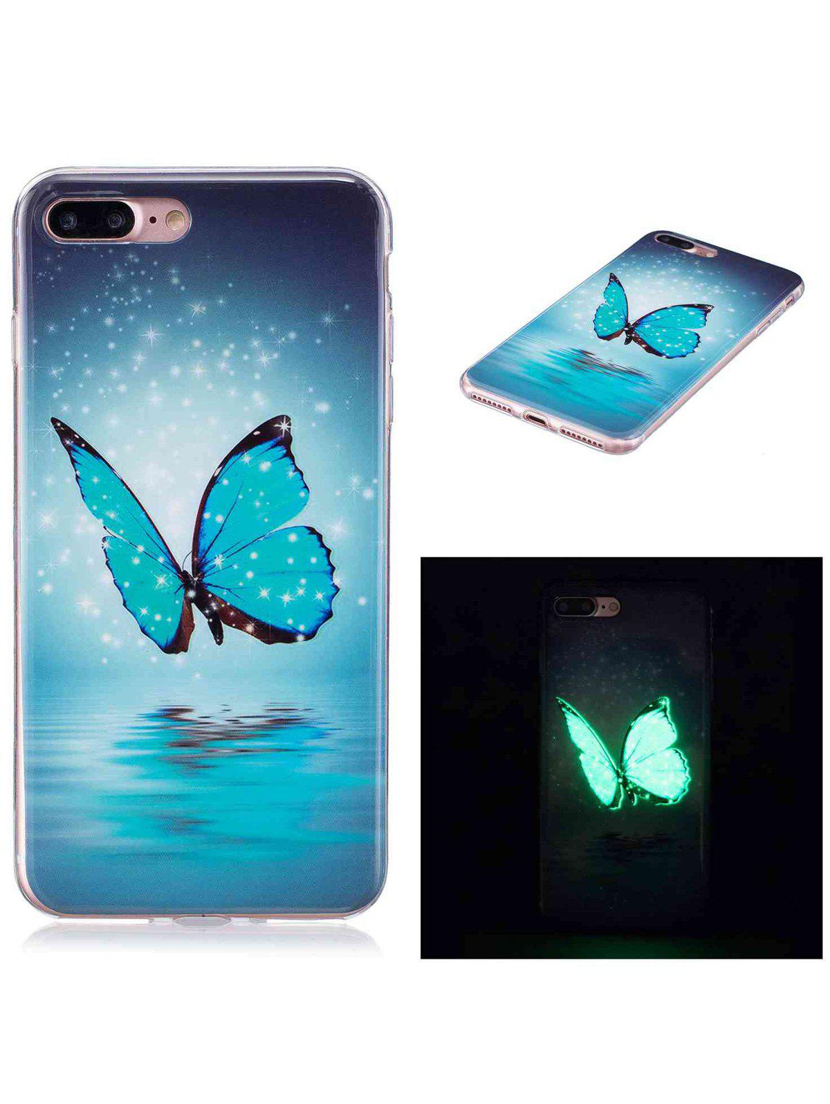 Butterfly Pattern TPU Luminous Back Case For iPhone - AZURE FOR IPHONE 6 / 6S