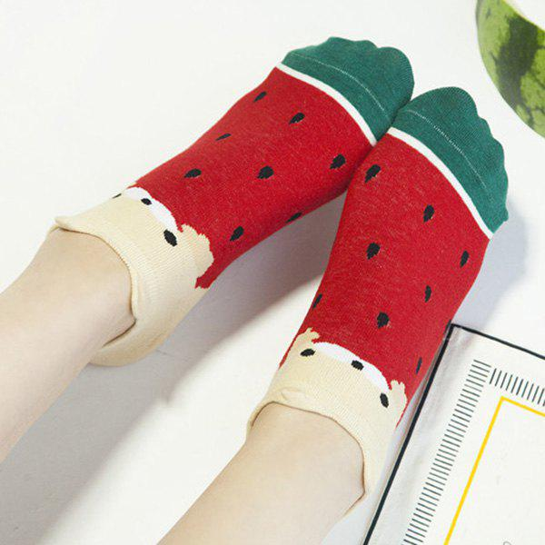 2 Pairs of Watermelon Ankle Socks