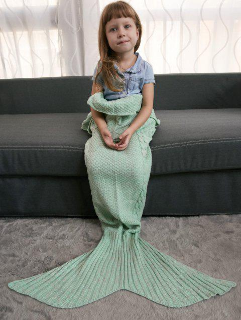Comfortable Crochet Knitting Mermaid Tail Style Blanket For Kids