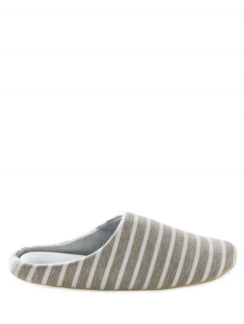 Striped Couleur Block House Slippers - Gris 43