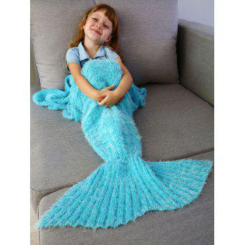 Crochet Knitted Faux Mohair Mermaid Blanket Throw For Kids - SPA SPA
