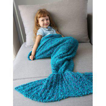Imitation Shearling Crochet Knitted Mermaid Blanket Throw For Kids - OASIS OASIS