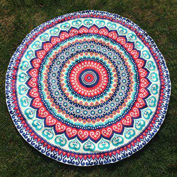 Ethnic Bohemian Style Vortex Print Round Beach Throw