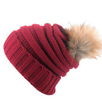 Stripy Knit Pom Hat