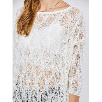 Batwing Sleeve Sheer Tunic Beach Cover-Up - ONE SIZE ONE SIZE
