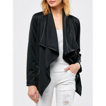 Asymmetrical Open Front Jacket