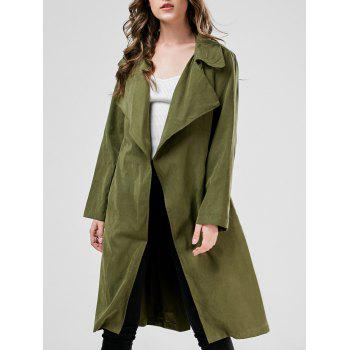 Buy Duster Wrap Coat ARMY GREEN