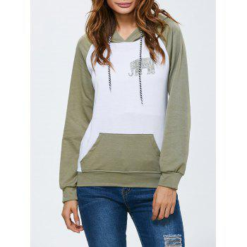 Hooded Animal Print Sweatshirt with Pocket