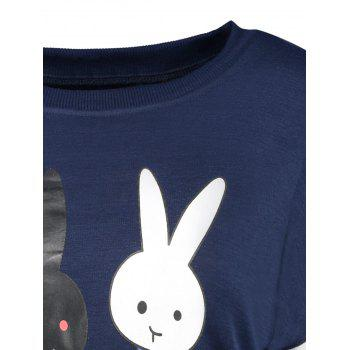 Cartoon Rabbit Pattern Sweatshirt - M M