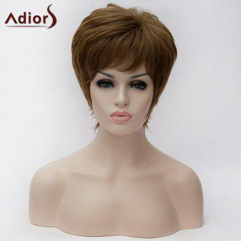 Adiors Full Bang Short Glossy Straight Bob Synthetic Wig
