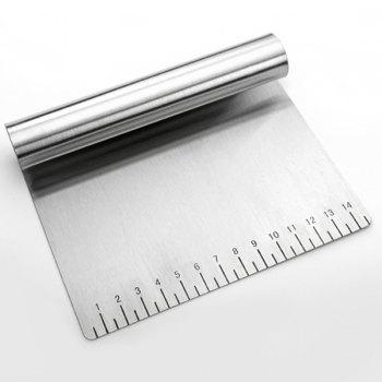 CM Scale Stainless Steel Dough Scraper Baking Tool -  SILVER