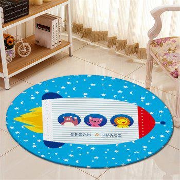 Buy Round Cartoon Pattern Antislip Room Floor Carpet BLUE
