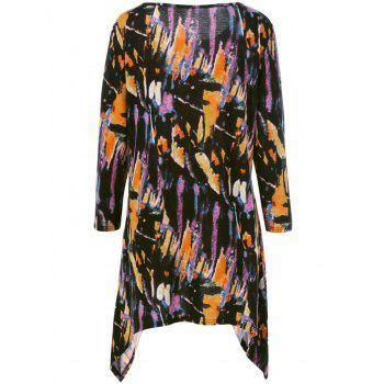 Plus Size Splatter Paint Tunic T-Shirt - COLORMIX COLORMIX