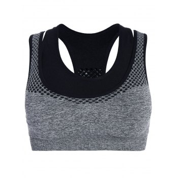 Racerback Double Layer Pullover Sports Bra