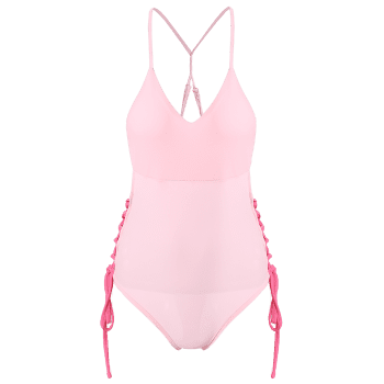 Cami Lace-Up High Cut One-Piece Swimwear - PINK PINK