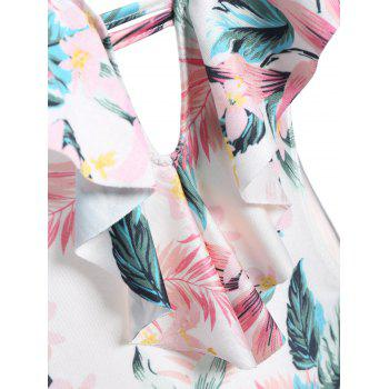 Cami Tropical Print High Cut One-Piece Swimwear - COLORMIX S