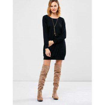 Raglan Long Sleeve Mini Dress - S S