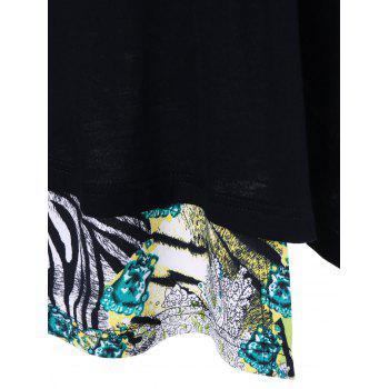 Animal Print Tunic T-Shirt - XL XL