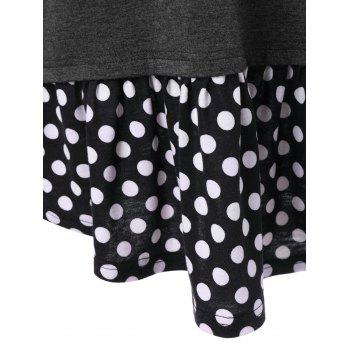 Polka Dot Trim Funny T-Shirt - L L