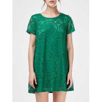 Mini Shift Lace Tunic Dress