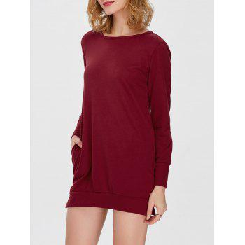 Pocket Slit Long Sleeve Dress