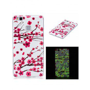 Plum Blossom Luminous Phone Back Cover For Huawei - WHITE FOR HUAWEI P9 LITE