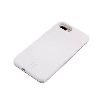 Selfie Luminous LED Flashlight Back Case For iPhone - WHITE WHITE