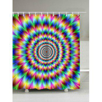 3D Vortex Digital Print Shower Curtain - COLORFUL COLORFUL