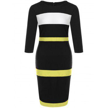 Color Block Fitted Dress
