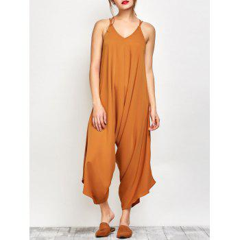 Cami Crosscriss Asymmetric Chiffon Jumpsuit