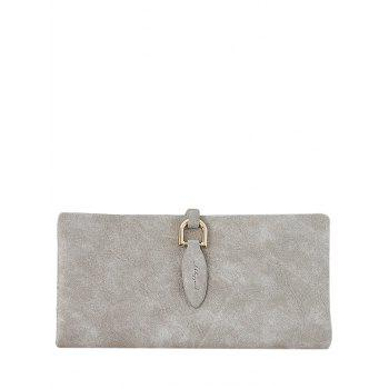 Bi Fold Faux Leather Clutch Wallet - LIGHT KHAKI LIGHT KHAKI