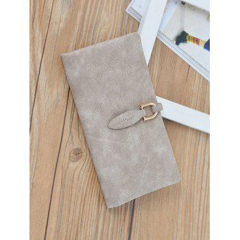 Bi Fold Faux Leather Clutch Wallet -  LIGHT KHAKI