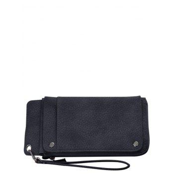 Faux Leather Clutch Wallet