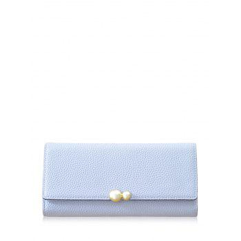 Tri Fold Textured PU Leather Wallet