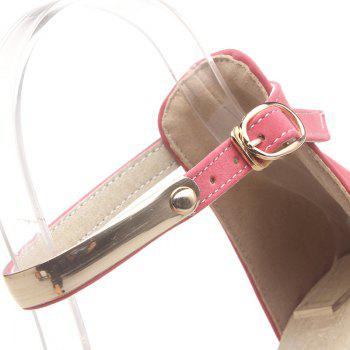 Point de Flats Toe Ankle Strap - ROSE PÂLE 37