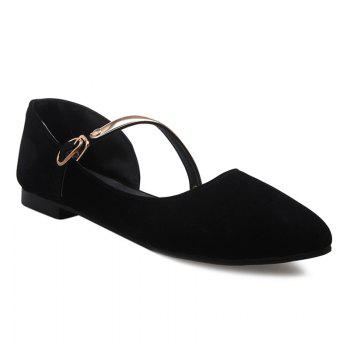 Buy Point Toe Mary Jane Flats BLACK