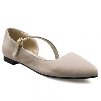 Buy Point Toe Mary Jane Flats OFF WHITE