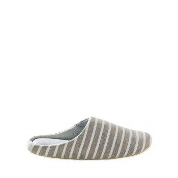 Striped Colour Block House Slippers